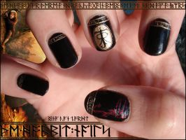 The Hobbit Nails by JawsOfKita-LoveHim