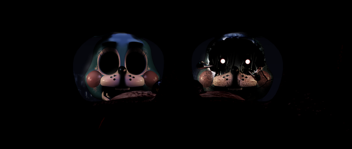 FNAF [Withered ToyBonnie ] Before - After by Christian2099