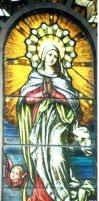 Mary Stained Glass Window by Falln-Stock