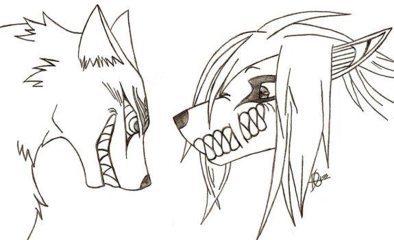 SMILEZ!! Madarao and Eren Wolf  Crossover *Gift* by xMaikoWolfx
