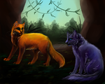 Bluestar and Fireheart by DiN-the-Painter