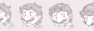 expression practice: Mario by Rainmaker113
