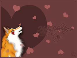 Snowing Hearts by silivrenwolf