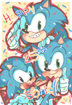 ~25 YEARS OF SONIC THE HEDGEHOG~! by chibiirose