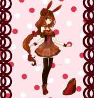 Chocolate Bunny Adoptable [CLOSED] by Strawberry-Kytlynn