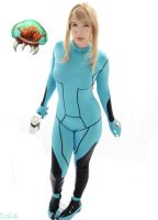 Zero Suit Samus And The Baby by cosplaylala