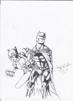Batman and Catwoman by craig1992