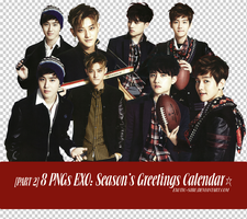 [PNGset13] EXO's 2014 official calendar - PART2 by exotic-siro