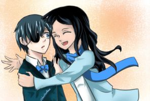 Request: Hugging Ciel by xbluephantomx