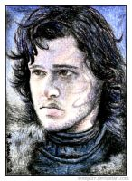 Jon Snow ACEO by SvenjaLiv