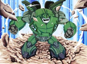 Bulkhead SMASH!!! by papillonstudio