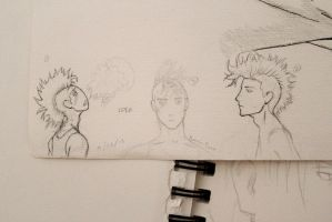 Mohawk guy by RougeCerberus