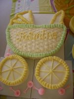 Baby Carriage cake by OliveDrop