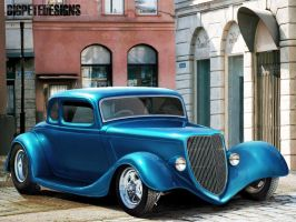 Smooth '34 Coupe by bigpetedesigns