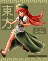 TOUHOU: Hong Meiling by WolfHyde