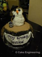 Artistic Owl cake by cake-engineering