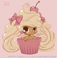 Cupcake Girl -Colored- by ceure