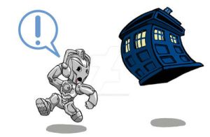 TARDIS vs. Cyberman by Sideways8Studios