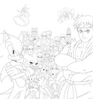 Sega vs Capcom WIP :Line Art: by ss2sonic