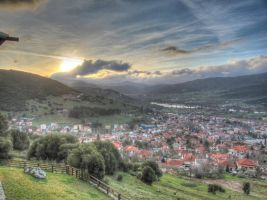 Sunset over Kalavrita by jsar