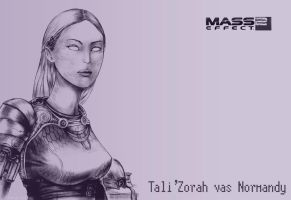 Tali'Zorah wallpaper by Agregor