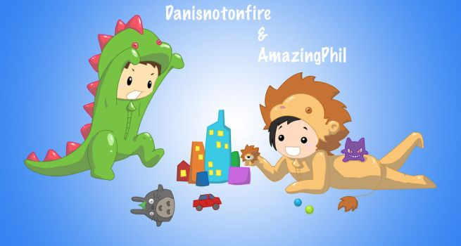 Dan and Phil Contest Entry by Elen93