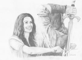 Kahlan and Richard by flylen