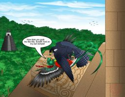 The Quetzal and The Falcon by Thagirion