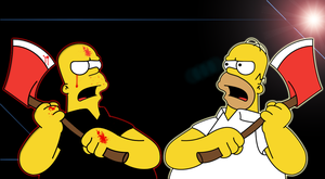 Homer Simpson Vs. The Android by justbigt