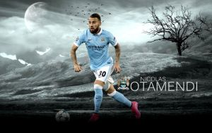 Nicolas Otamendi Wallpaper 2015/16 by ChrisRamos4
