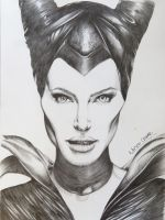 Drawing-Maleficent-Angelina-Jolie-3 by MiltonCesar