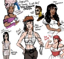 Lady Pirates concept by MsRaggaMuffin