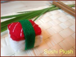 Red sushi plush by Tammyyy