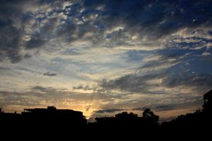 Cloudy Sunset by Sbus