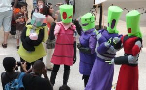 Gir, Zim, Tak, Tallest Purple, and Tallest Red by trivto