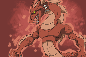 Some Red Drako Picture Thing by DrakoNekoshi