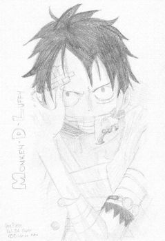 :Sketch: OP - Monkey.D.Luffy by Red-Parrot