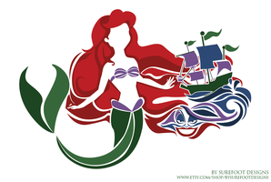 The Little Mermaid Print by SurefootDesigns