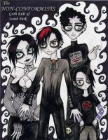 The Goth Kids by Zombie-Pip