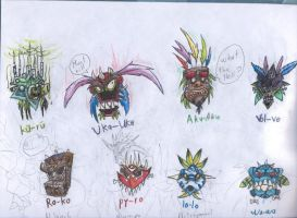 Crash bandicoot's masks by NitendoFan92