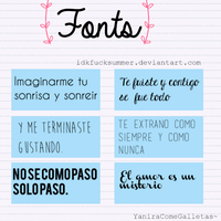 Fonts By: Yaniracomegalletas~ by idkfucksummer