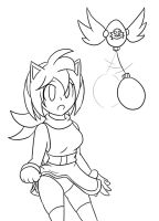 Amelia Rose: Hypnotic Flash ~Commission~ :Lineart: by Xero-J