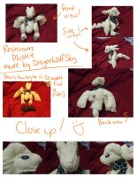 Reshiram Plushie! by Agents-Of-Otachi