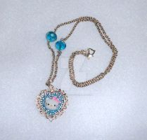 HK Blue necklace - SOLD by AngelLale87