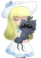 Lillie and Marshadow by gloriouslayde