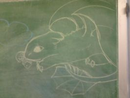 Chalkboard Toothless by JackieSpicer1991