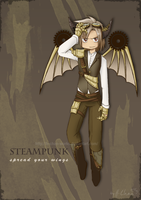 Steampunk Dragon by H-Chan-Arts