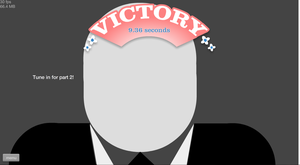 Slender is wearing a Victory Hat~ by sailorcupcake
