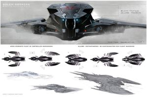 Jupiter Ascending Wraith Attack Ship Configuration by inuboy86