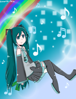 :Miku - Follow the Music: by LunaticTrix